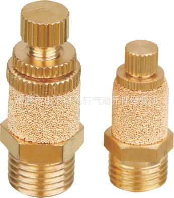 【诸暨飞轩】2分黄铜消声节流阀外罩 电磁阀可调排气接头