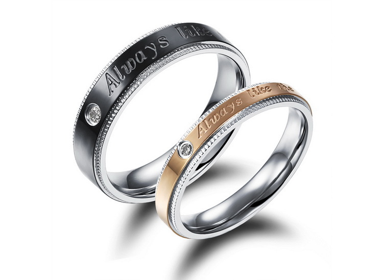 his and stainless steel engraved matching promise