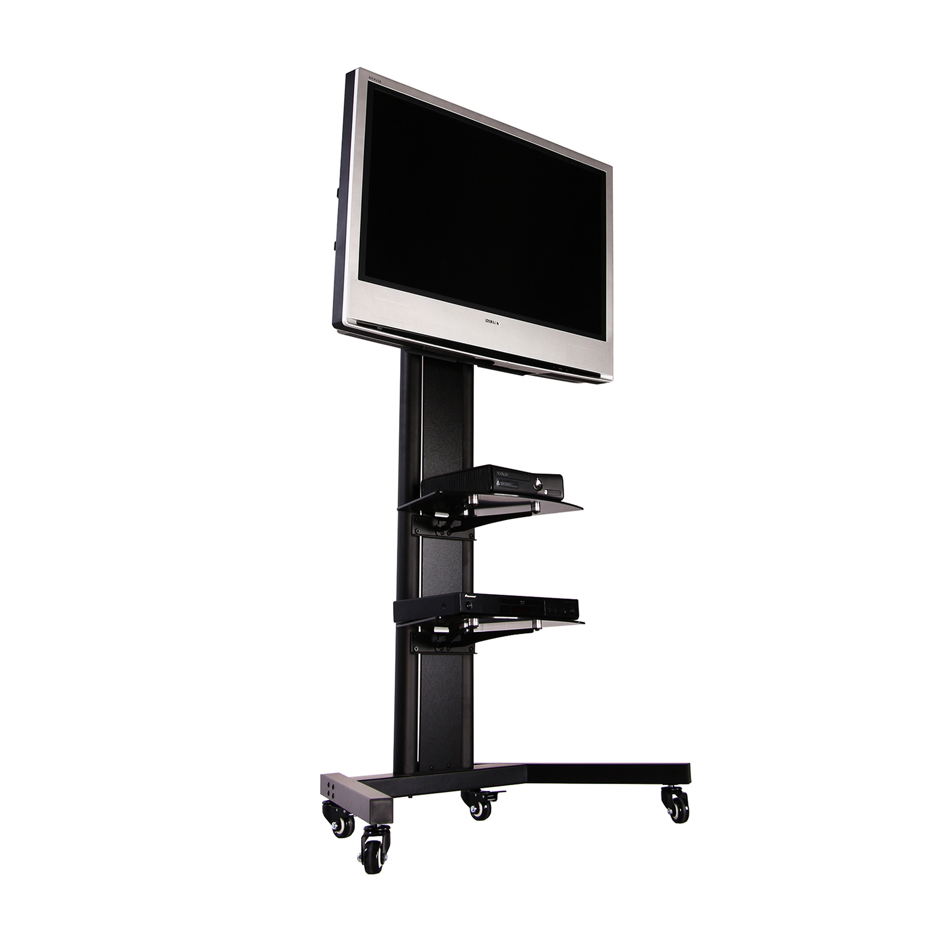 black tv stand for 65 inch flat screen kanto mtm65 mobile tv
