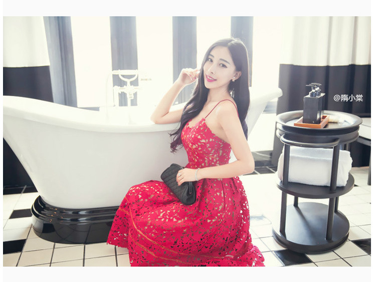 The Newmont, 035 #2015 summer new Ching Ching Dynasty small-tong network red lace water-soluble Openwork strap dresses red XL pictures, price, brand platters! Elections are good character, the national distribution, so why buy now enjoy more preferential! Health