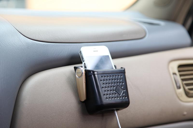 汽车手机架 车用置物盒 粘贴式车用手机座 车载收纳用品 小号2色