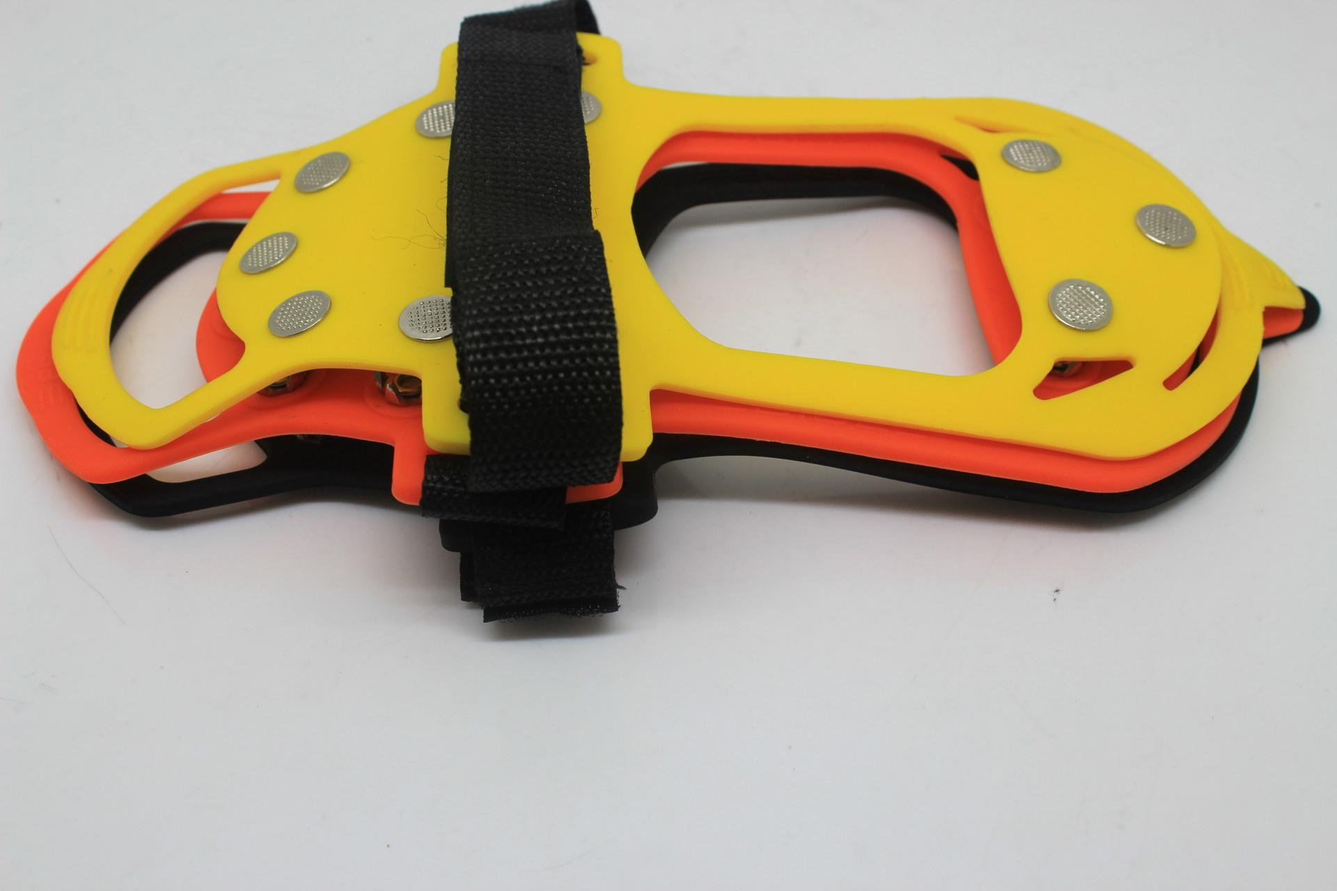 不锈钢雪地冰爪硅胶鞋套10齿葫芦SIGL-A006通达利提供