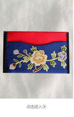 现货批发精美苏绣工艺品高档生日礼物手工丝绸真丝刺绣名片夹卡包图片
