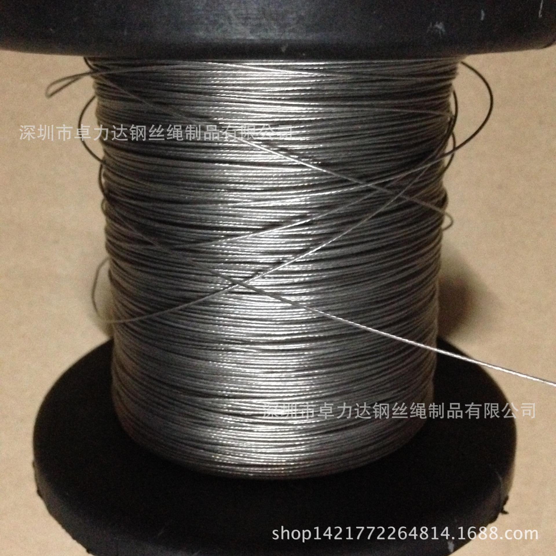 批发零售,304,316不锈钢钢丝绳,0.6MM不锈钢钢丝绳1×7结构
