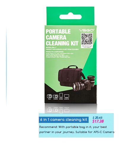 2014 Hot Sale Portable Camera Cleaning Kit For Canon, Nikon Lens Sensor Cleaning Free Shipping