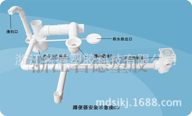 排水管材 同层沉箱积水排除器 U PVC排水管材管件 阿里巴巴