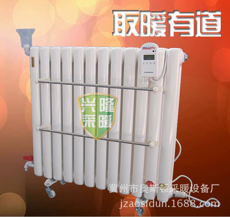 暖气片 散热器 水电暖气片 全智能遥控温控器加热棒 低碳钢双柱式节能