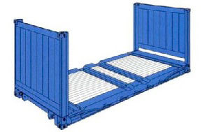 20 ft. Flat Rack Container