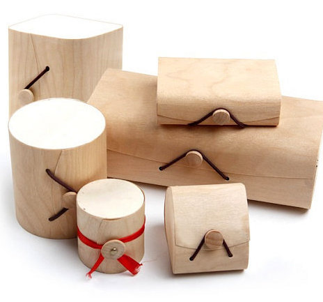 创意桦木软树皮工艺礼品包装盒 纯木色饰品茶叶盒图片