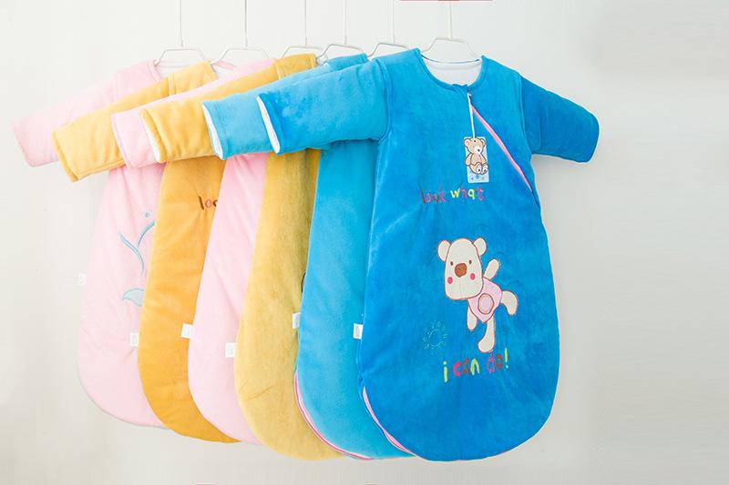 童睡袋 秋冬加厚婴儿睡袋 防踢被 外贸尾单 婴幼儿童睡袋一