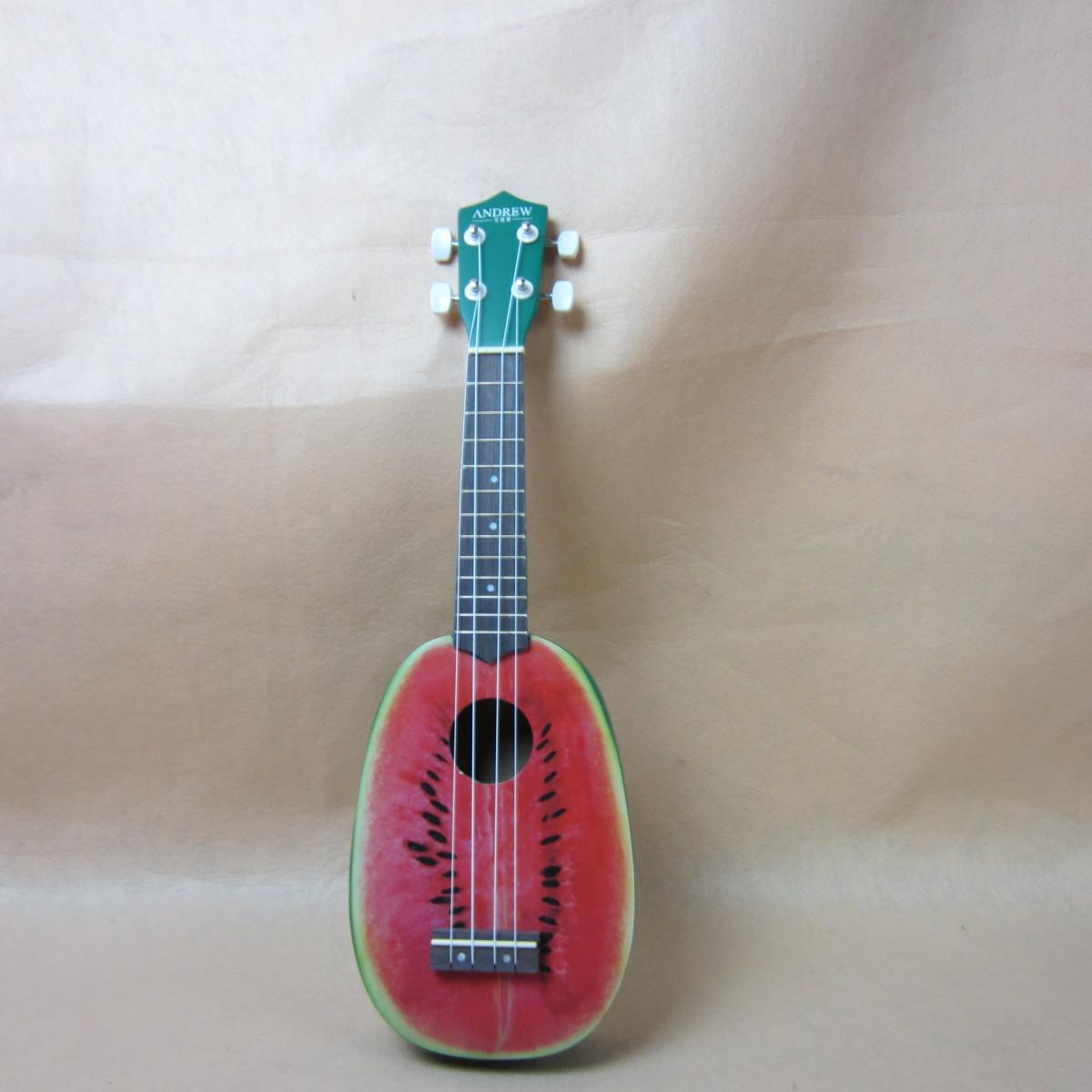 21寸彩琴尤克里里ukulele JHB002菠萝型 乌克丽丽 四弦小吉