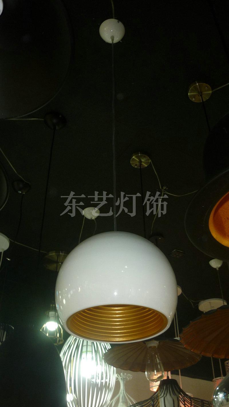 生产销售 新款现代圆形吊灯 餐厅铁艺布罩吊灯2001