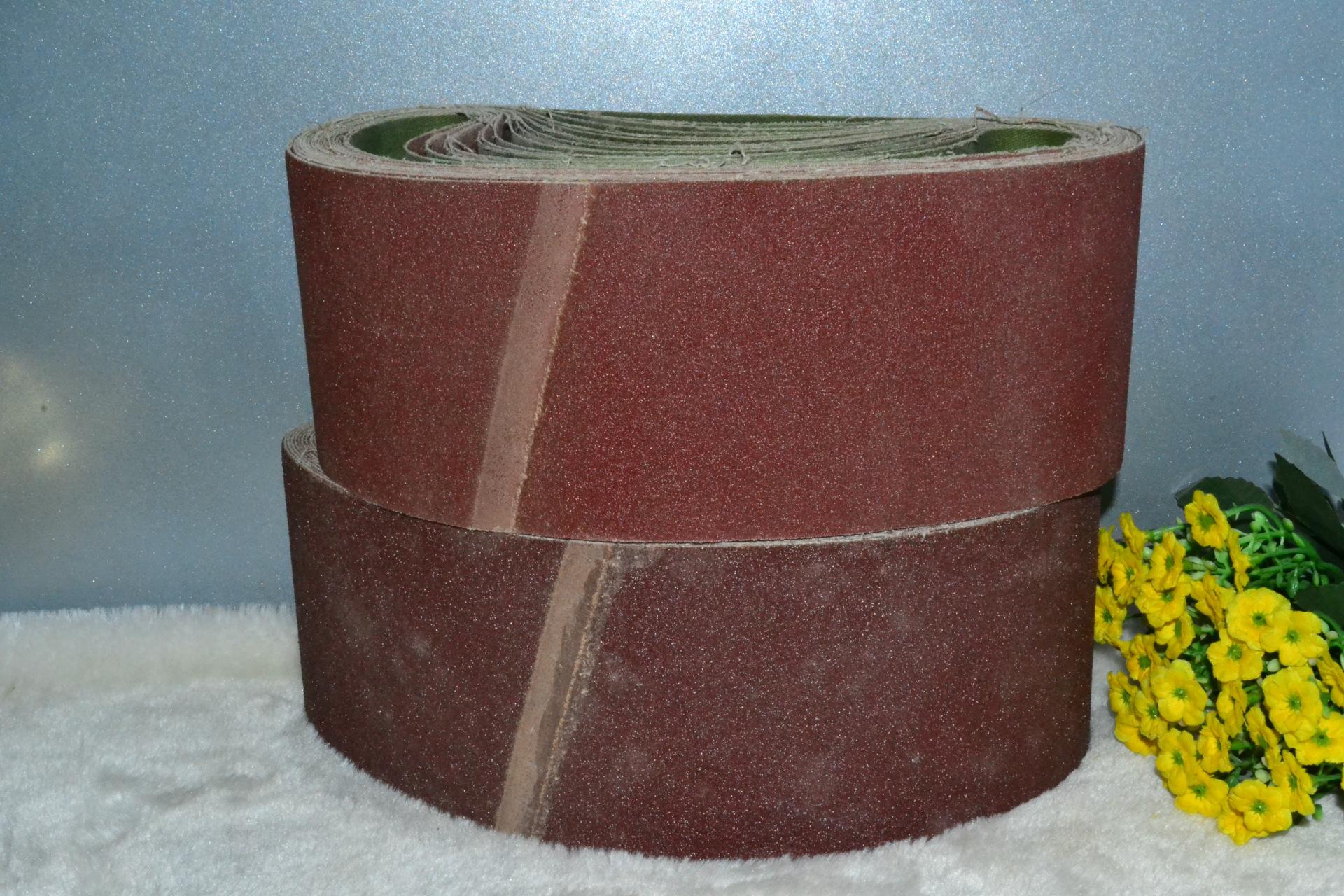 砂纸带氧化铝砂布卷带 木材家具抛光打磨专用磨具砂布100*610