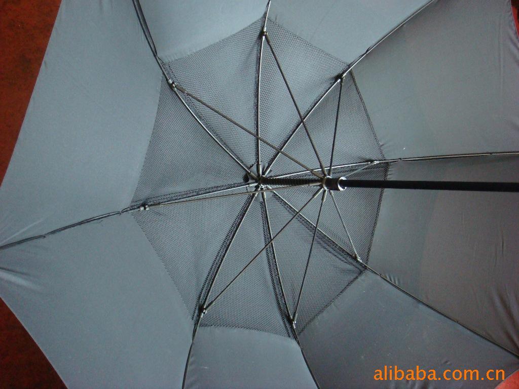 纤维伞架喷击面料双层伞